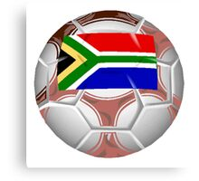 South Africa Soccer Ball Canvas Print