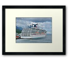 Carnival Spirit Moored in Ketchican Alaska Framed Print