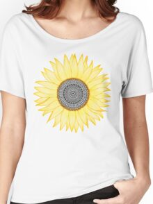 Golden Mandala Sunflower Women's Relaxed Fit T-Shirt