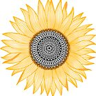 « Golden Mandala Sunflower » par paviash