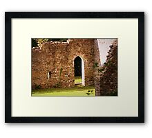 The old Iron works ruins Framed Print
