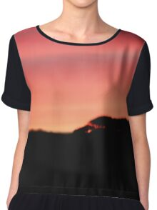 Sunset over the hills Chiffon Top