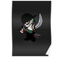Pixelated Swordsman Poster