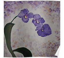 Orchids on a Stem Poster