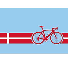 Bike Stripes Danish National Road Race Photographic Print