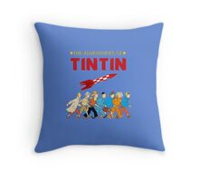adventure of tintin Throw Pillow