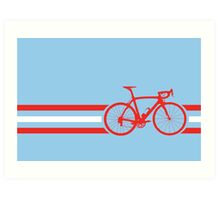 Bike Stripes Austria v2 Art Print