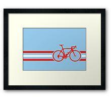 Bike Stripes Austria v2 Framed Print