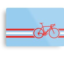 Bike Stripes Austria v2 Metal Print