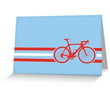 Bike Stripes Austria v2 Greeting Card
