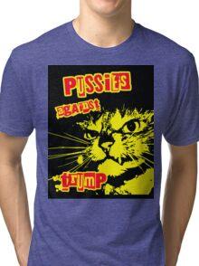 Meow Pussies against Trump Tri-blend T-Shirt