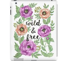 Wild and Free Watercolor Illustration iPad Case/Skin