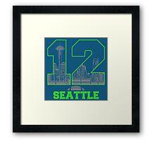 12 Seattle Framed Print