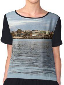Brighton Coastal View - airbrush & ink Chiffon Top