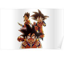 Goku - Goten - Gohan - Dragon Ball Poster