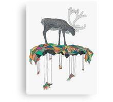 Reindeer colors Canvas Print