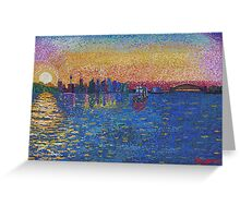 Sunset on Sydney Harbour Greeting Card