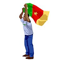 Cameroon Soccer Fan Photographic Print
