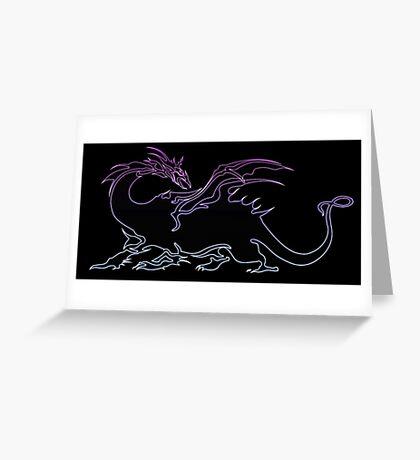 °FINAL FANTASY° Final Fantasy V Neon Logo Greeting Card