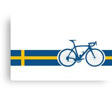 Bike Stripes Swedish National Road Race Canvas Print