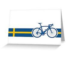 Bike Stripes Swedish National Road Race Greeting Card