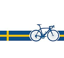 Bike Stripes Swedish National Road Race Photographic Print