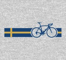 Bike Stripes Swedish National Road Race One Piece - Long Sleeve