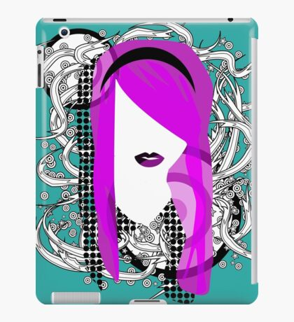 Emo Girl Graphic iPad Case/Skin