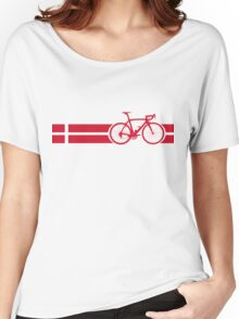 Bike Stripes Danish National Road Race Women's Relaxed Fit T-Shirt