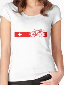 Bike Stripes Switzerland Women's Fitted Scoop T-Shirt