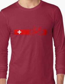 Bike Stripes Switzerland Long Sleeve T-Shirt