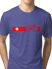 Bike Stripes Switzerland Tri-blend T-Shirt