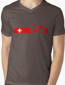 Bike Stripes Switzerland Mens V-Neck T-Shirt