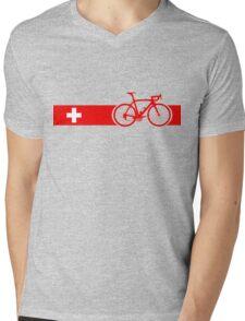Bike Stripes Switzerland Mens V-Neck T-Shirt