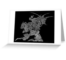 °FINAL FANTASY° Final Fantasy VI B&W Logo Greeting Card