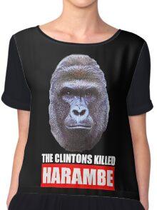 The Clintons Killed Harambe Chiffon Top