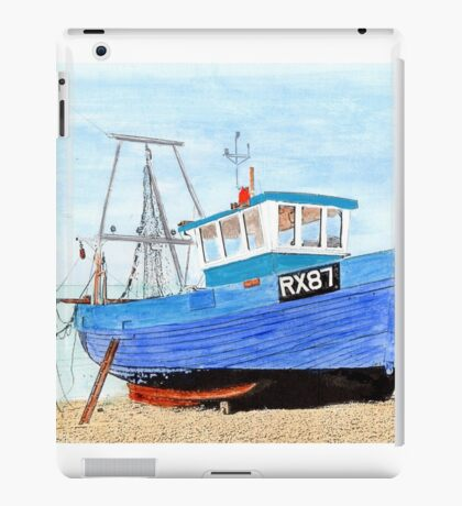 Hastings Fishing Boat in Mixed Media  iPad Case/Skin