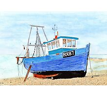 Hastings Fishing Boat in Mixed Media  Photographic Print