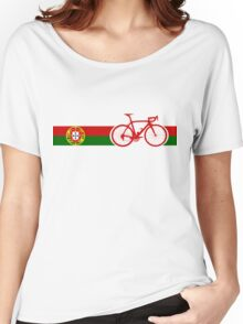 Bike Stripes Portugal  Women's Relaxed Fit T-Shirt