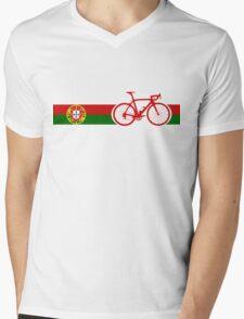 Bike Stripes Portugal  Mens V-Neck T-Shirt