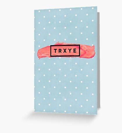 TRXYE Logo- Blue Polkadot Greeting Card
