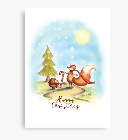 The Hedgehog and the Fox at Christmas Canvas Print