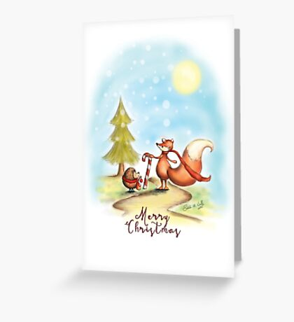 The Hedgehog and the Fox at Christmas Greeting Card