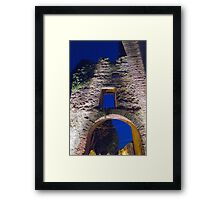 antique ancient walls of castle Framed Print