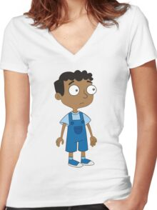 Baljeet Phineas and Ferb Women's Fitted V-Neck T-Shirt