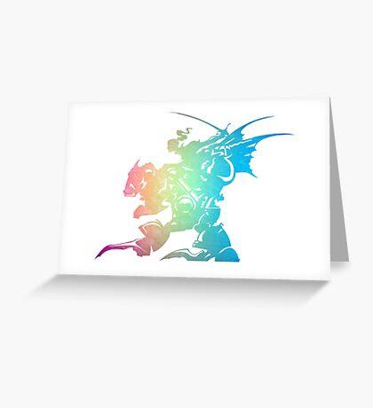 °FINAL FANTASY° Final Fantasy VI Rainbow Logo Greeting Card