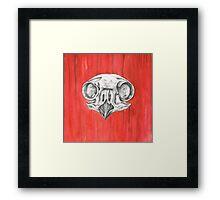 Owl Skull Framed Print