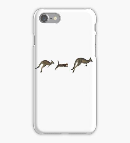 Three kangaroos? iPhone Case/Skin