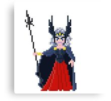 Polaris Hilda - Saint Seya Pixel Art Canvas Print