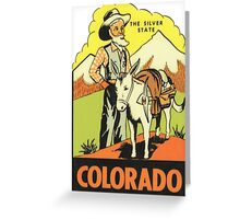 Colorado CO State Vintage Travel Decal Greeting Card